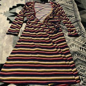 Multicolor Stripe Dress Size Small